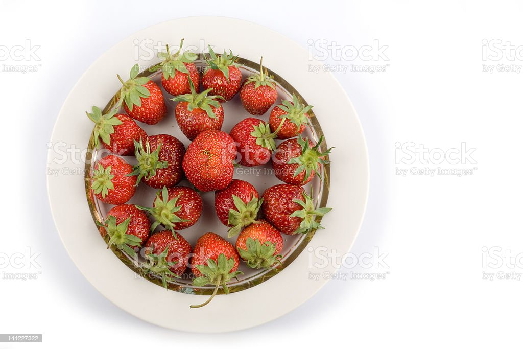 Plate of strawberry royalty-free stock photo