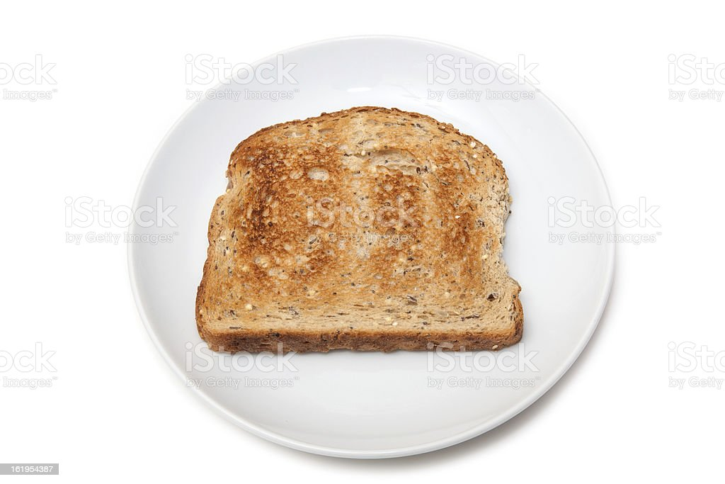 Plate of toast royalty-free stock photo