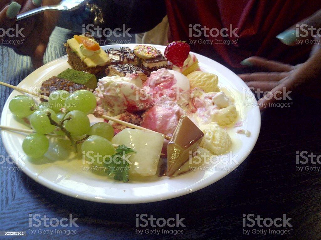 Plate of Treats stock photo