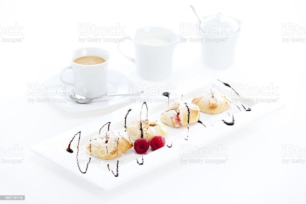 plate of typical austrian sweets stock photo