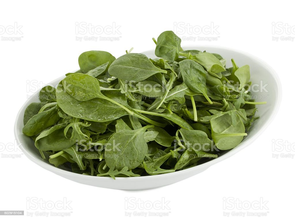 plate of vegetable salad stock photo