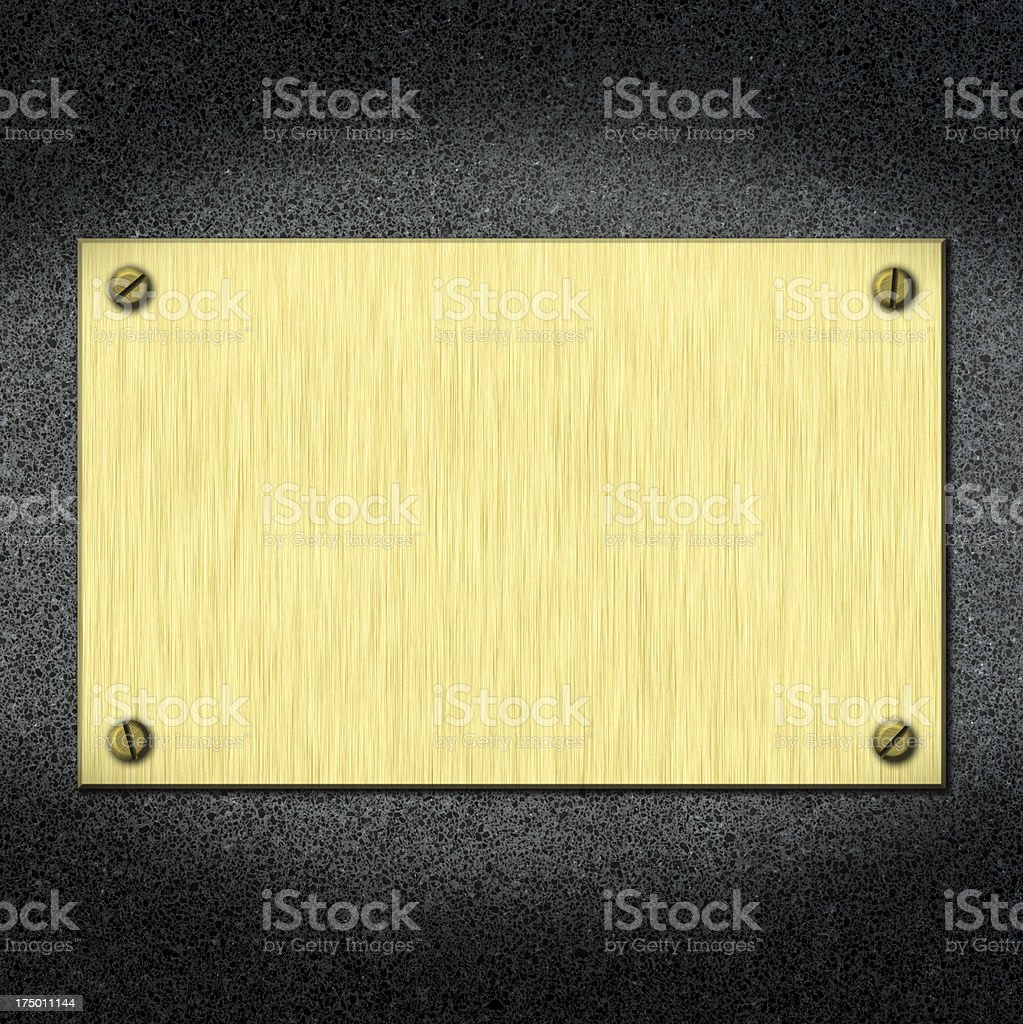 plate on a wall stock photo