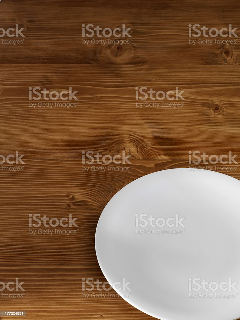 plate on table royalty-free stock photo