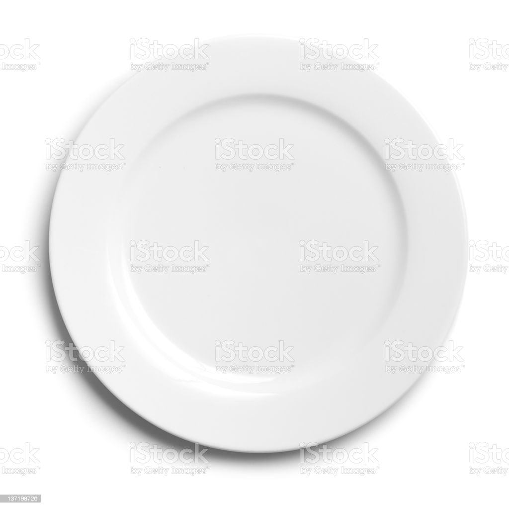plate on white background stock photo