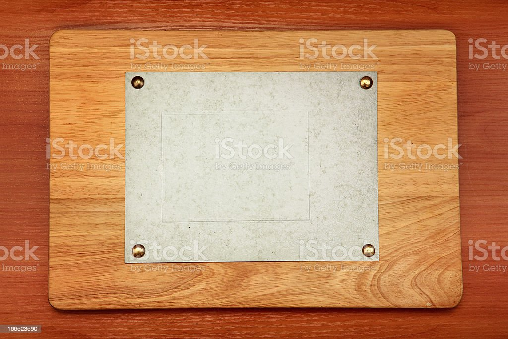 Plate On Wooden Background royalty-free stock photo