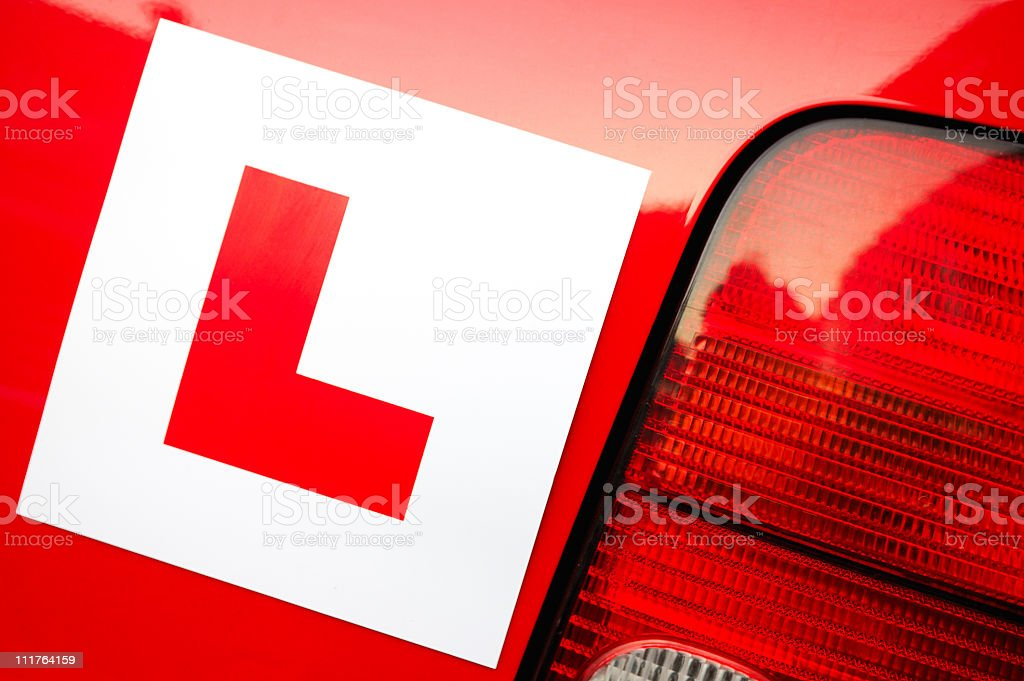 L Plate stock photo