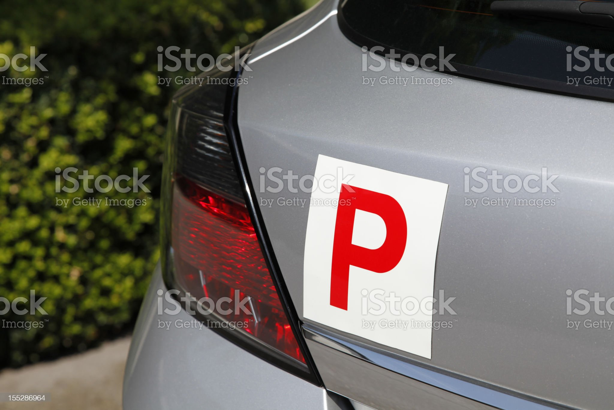 P Plate royalty-free stock photo