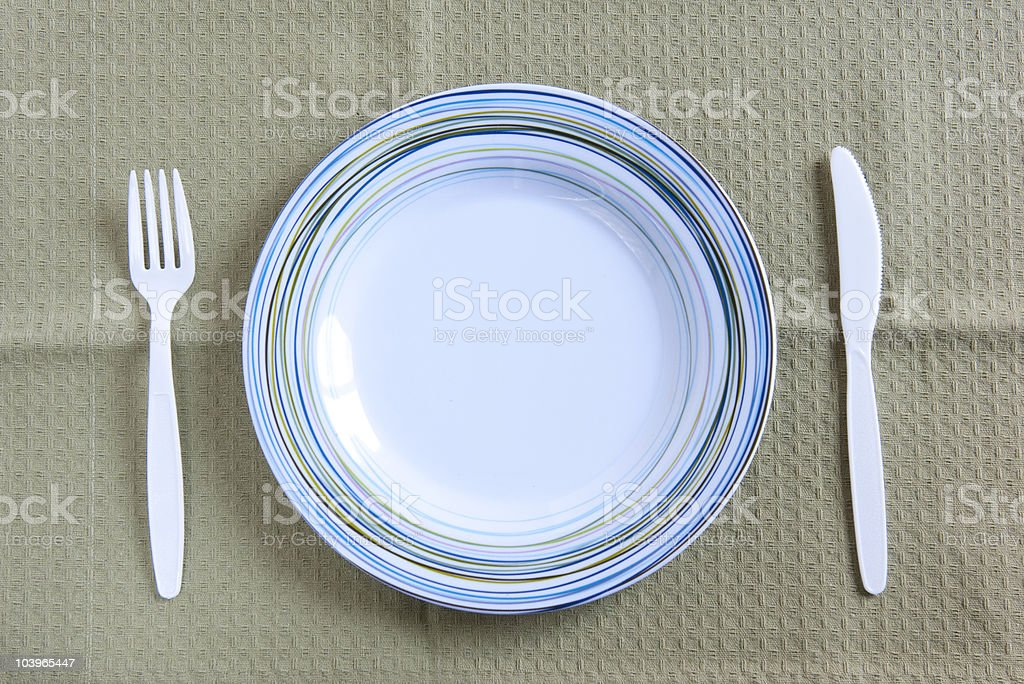 plate setting royalty-free stock photo