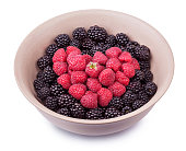 Plate with berries