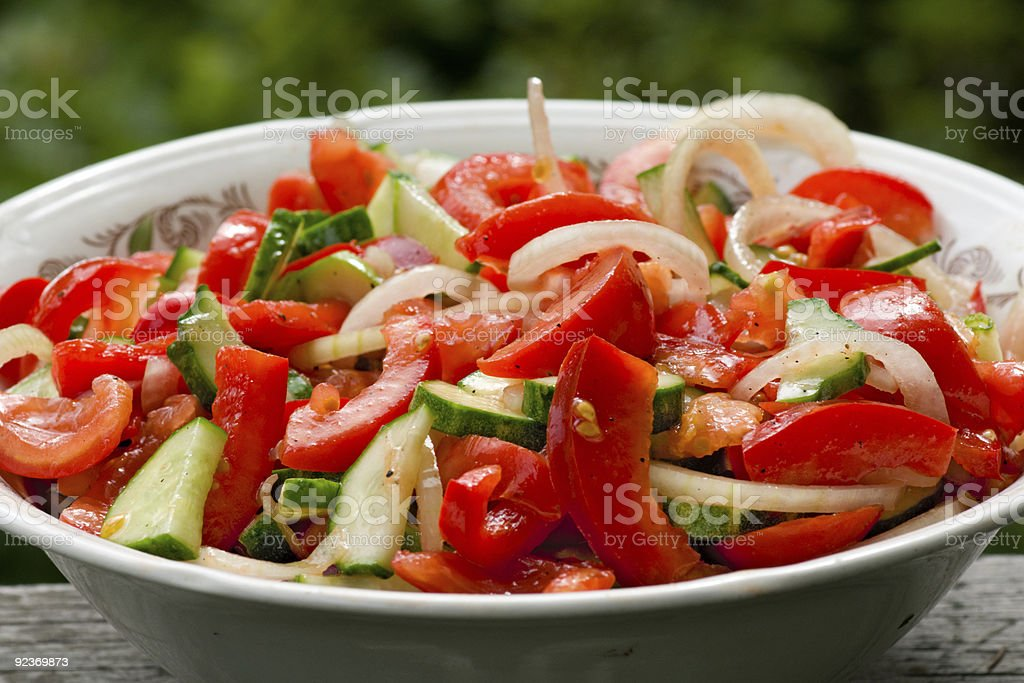 Plate with colourful fruit mix royalty-free stock photo