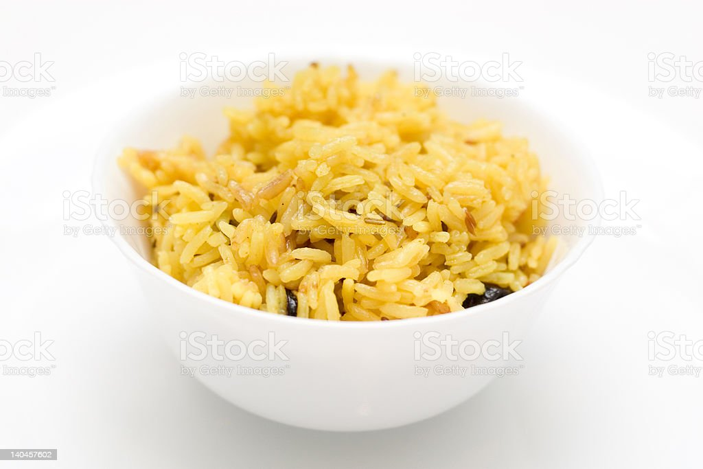 plate with rice royalty-free stock photo