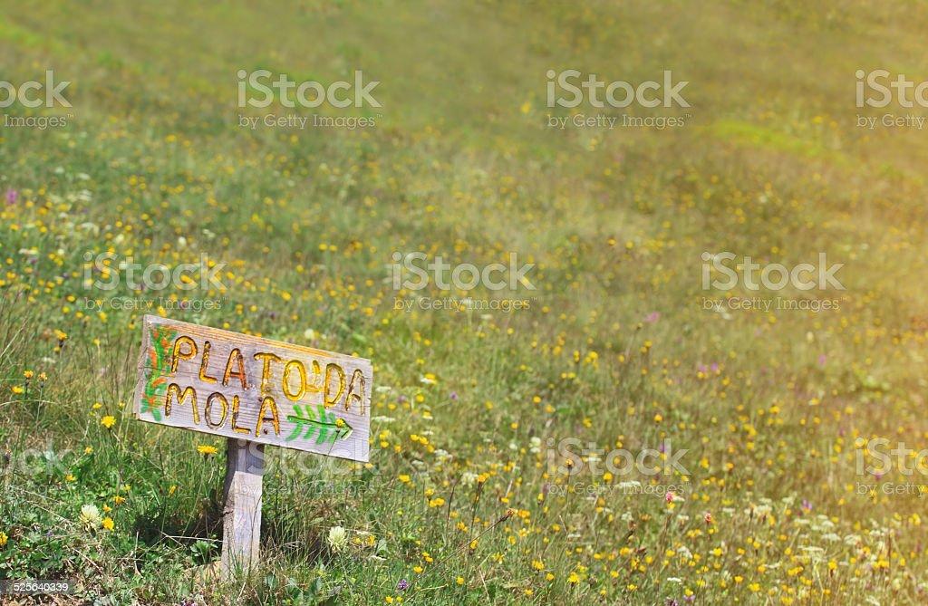 Plateau Break stock photo