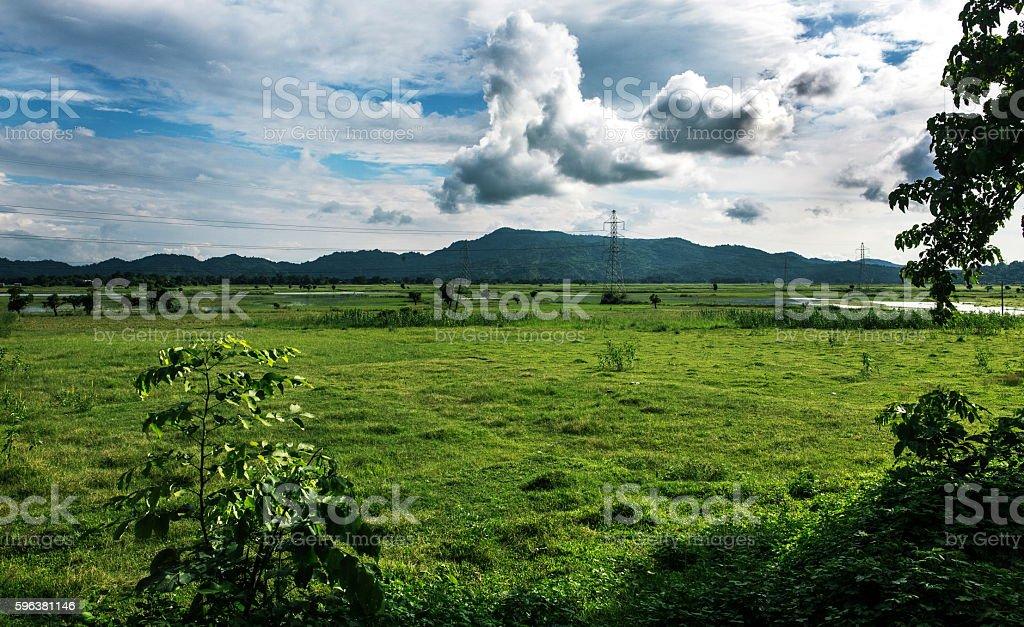 Plateau in Himalaya near Guahati at lower Assam, India stock photo
