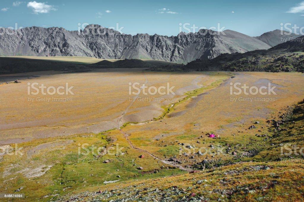 Plateau In National Park Of Elbrus Region In Summer. North Caucasus, Russia stock photo
