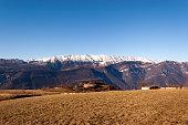 Plateau of Lessinia and Italian Alps