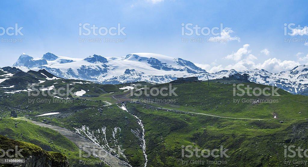 Plateau Rosa, Aosta Valley stock photo