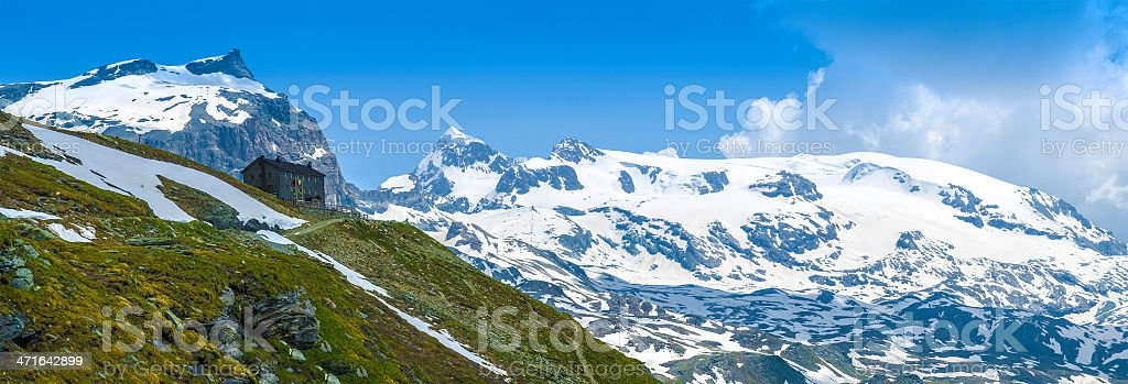 Plateau Rosa, Aosta Valley royalty-free stock photo
