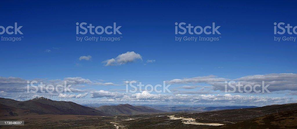 Plateau sky royalty-free stock photo