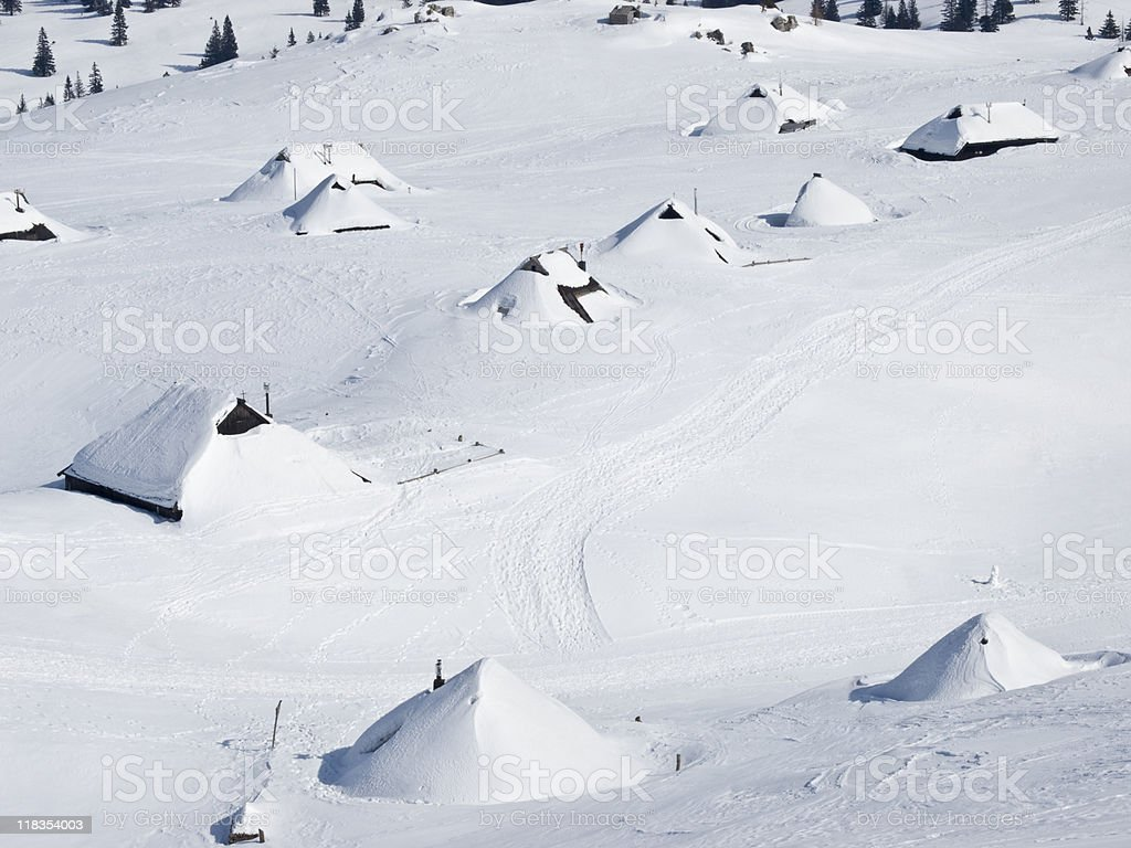 Plateau Velika planina stock photo