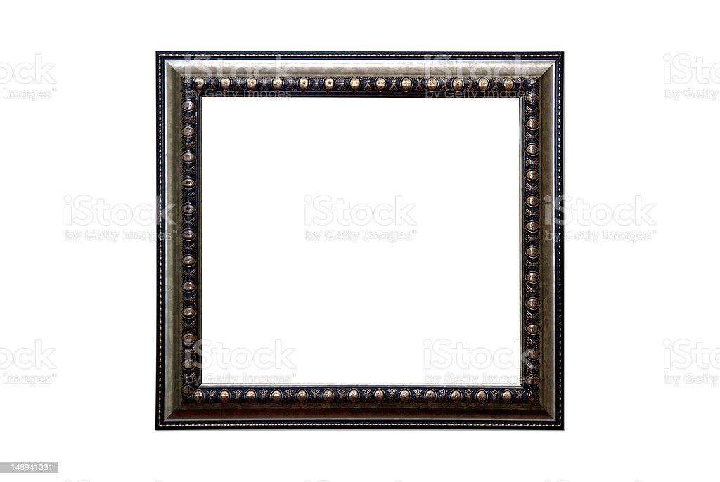 Plated Wooden Picture Frame royalty-free stock photo