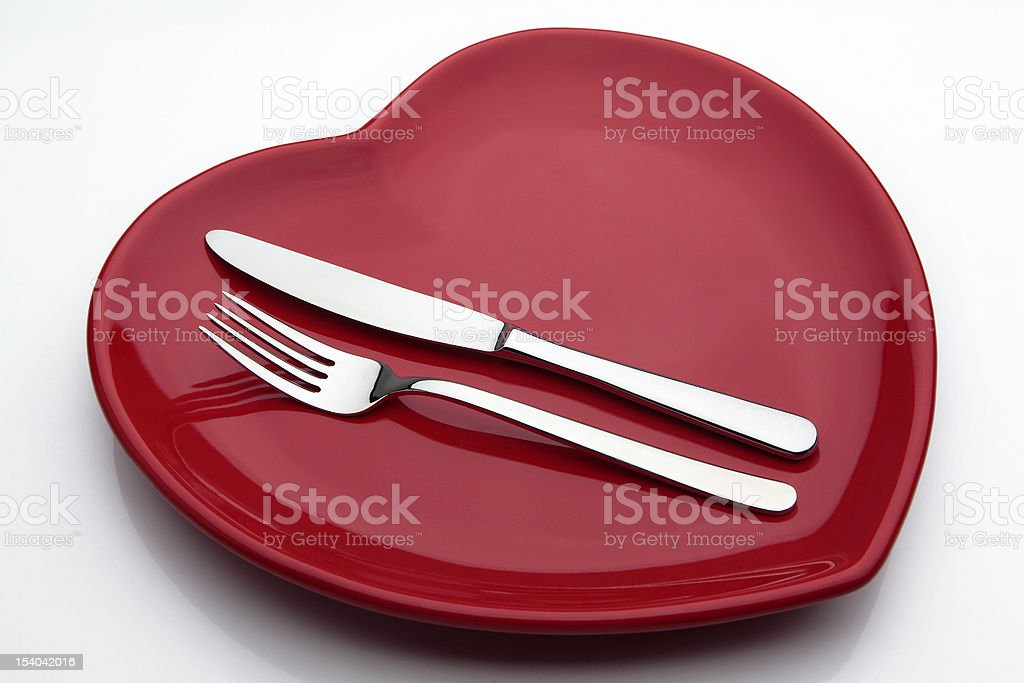 Plate,Fork And Knife royalty-free stock photo