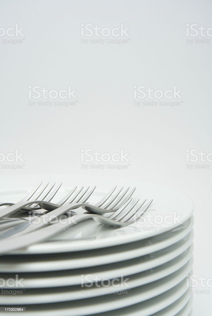 Plates and cutlery stock photo