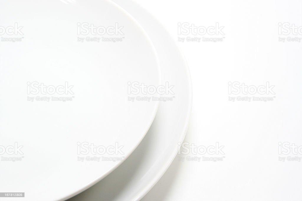 plates isolated on white background royalty-free stock photo