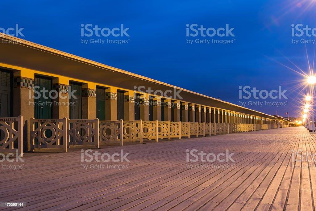 Planches de Deauville stock photo