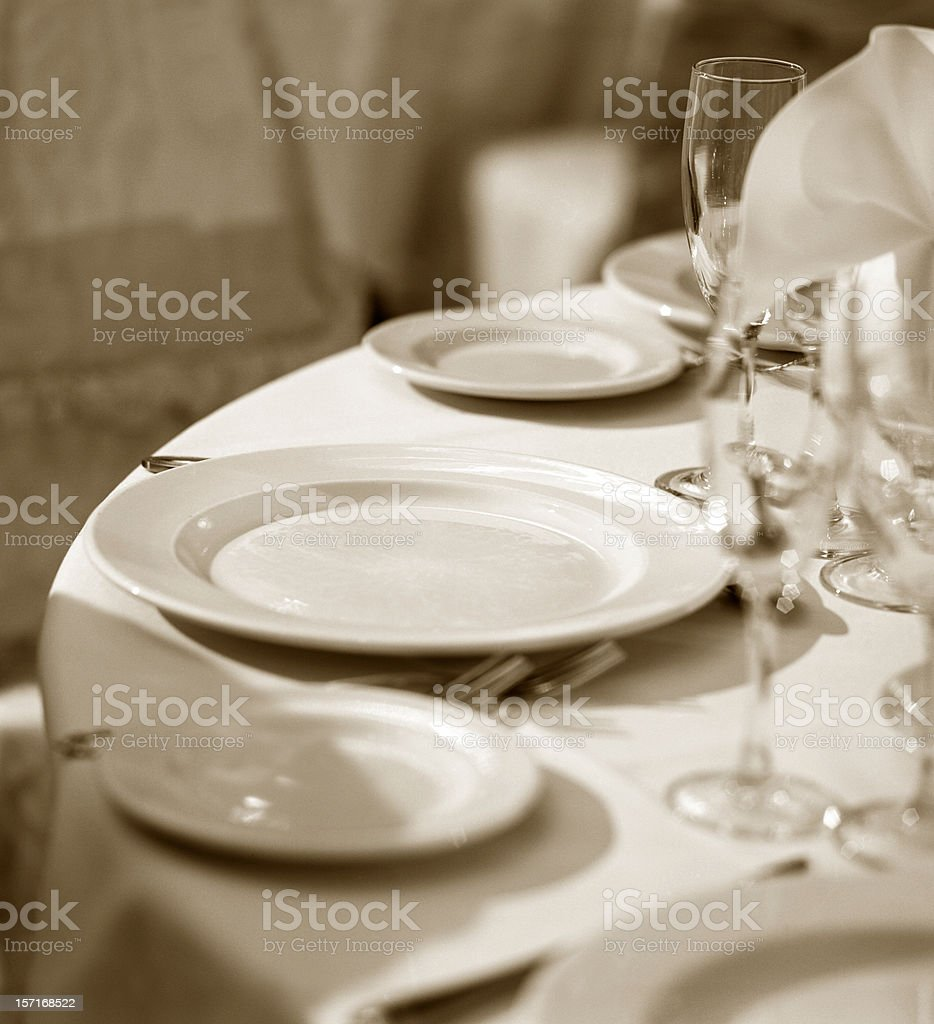 Plates on the table royalty-free stock photo