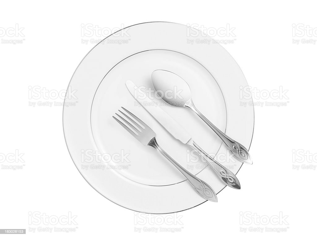 Plates (isolated with clipping path over white background) royalty-free stock photo