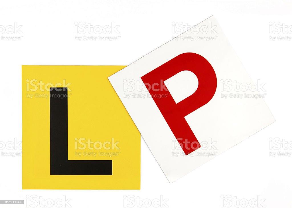 L & P Plates stock photo