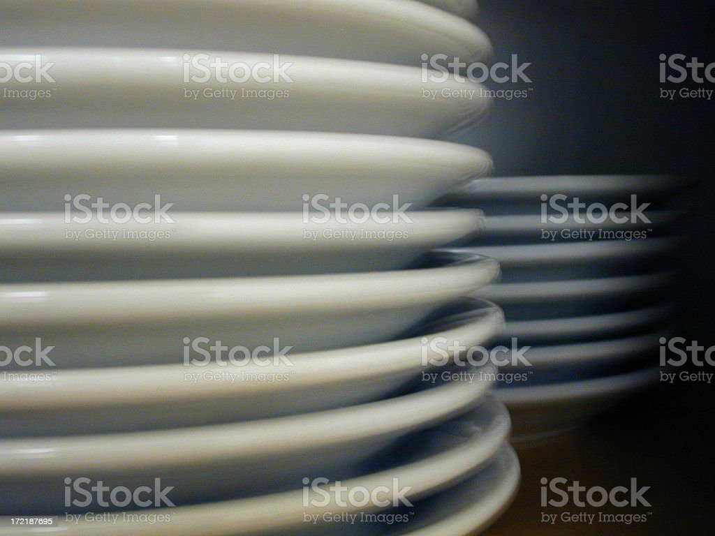 Plates Stacked royalty-free stock photo