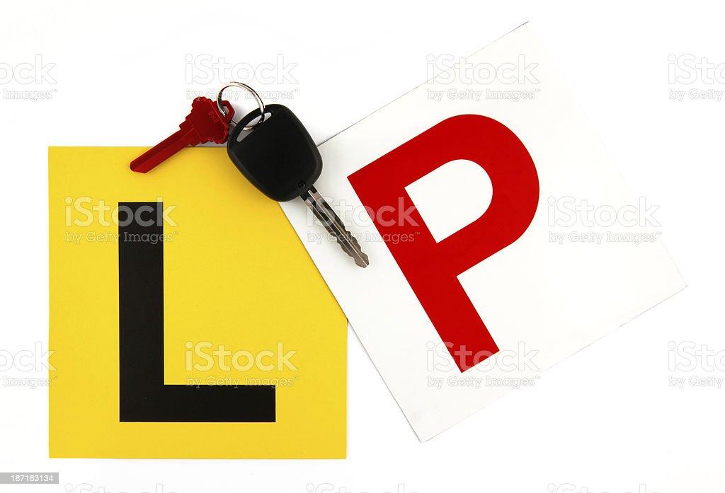 L & P Plates with Keys stock photo