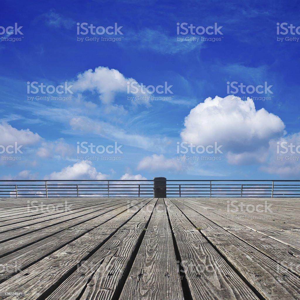 platform and blue sky royalty-free stock photo