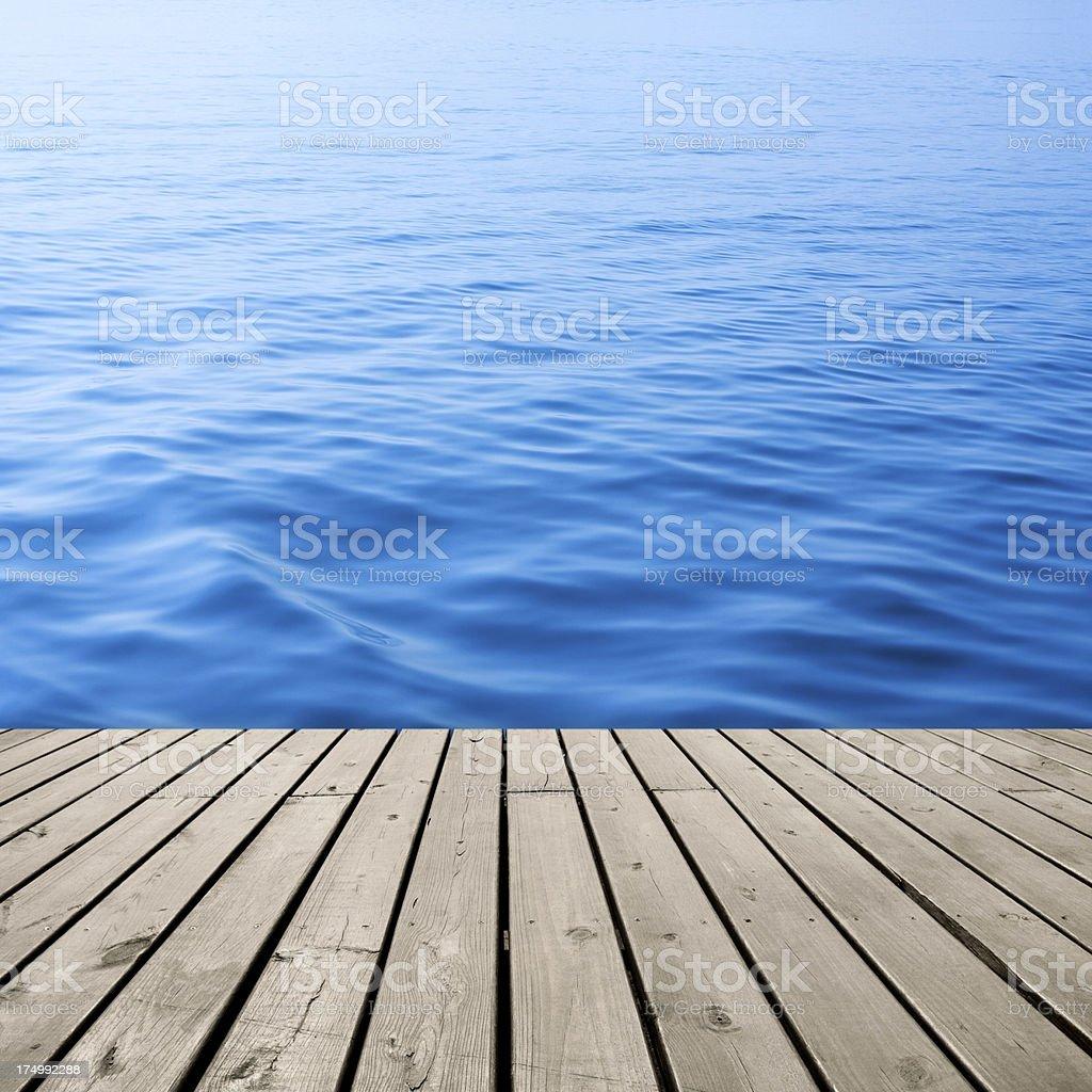 Platform at the beach royalty-free stock photo