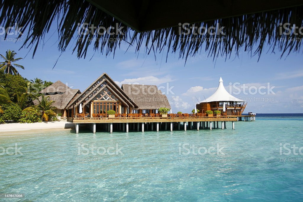 Platform House With A Tropical Sea royalty-free stock photo