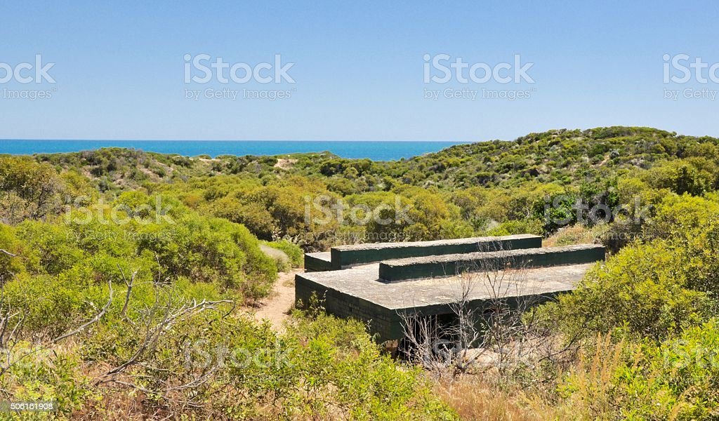 Platform in the Dunes: Cape Peron stock photo
