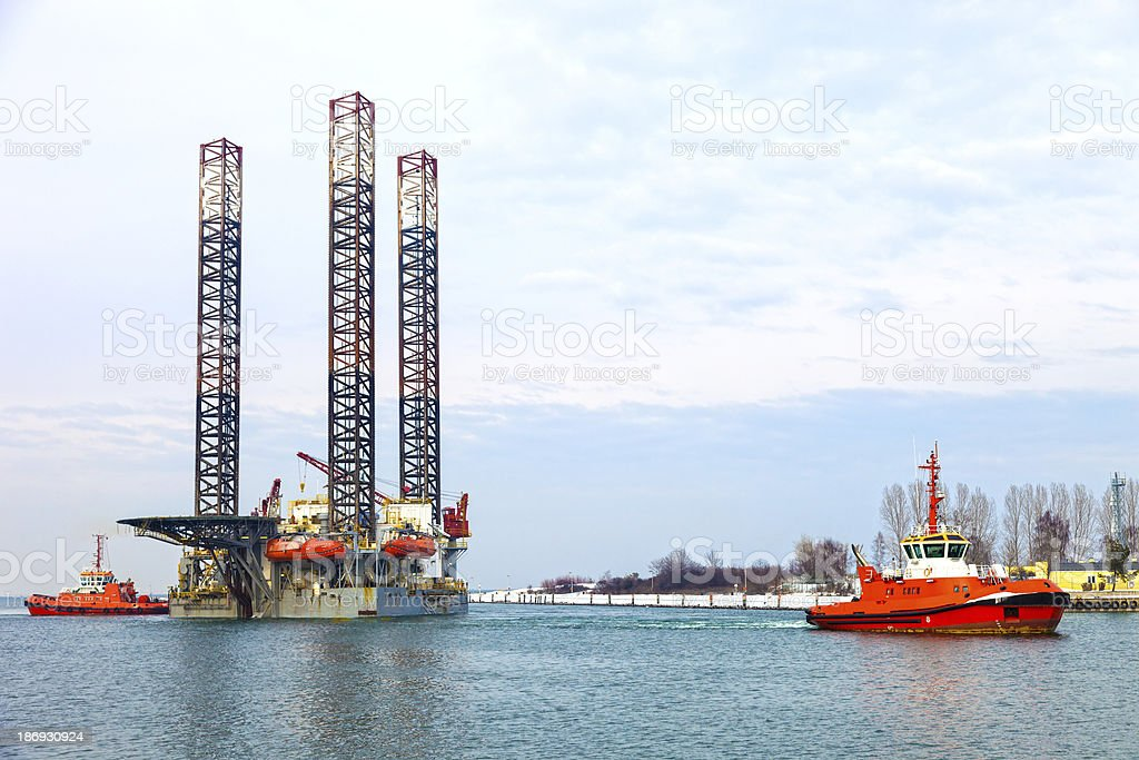 Platform in the port royalty-free stock photo
