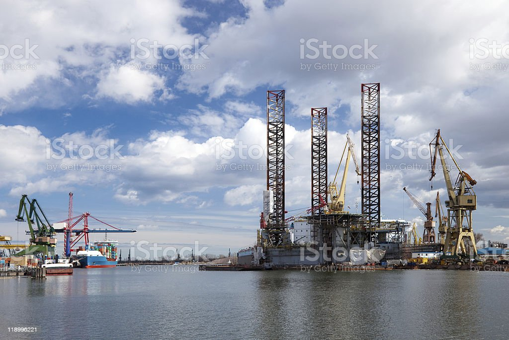 Platform in the shipyard royalty-free stock photo