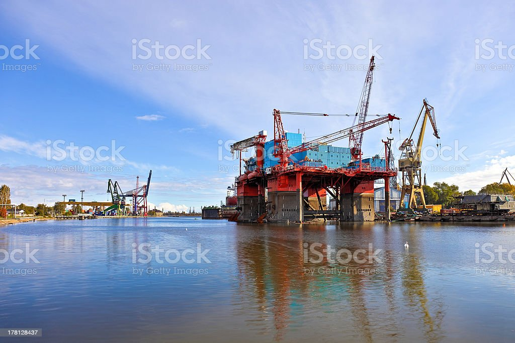 Platform in the shipyard royalty-free stock photo
