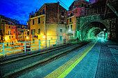 Platform in Vernazza village
