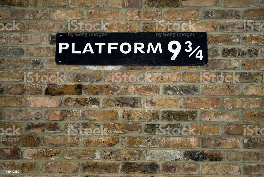 Platform Nine and Three Quarters stock photo