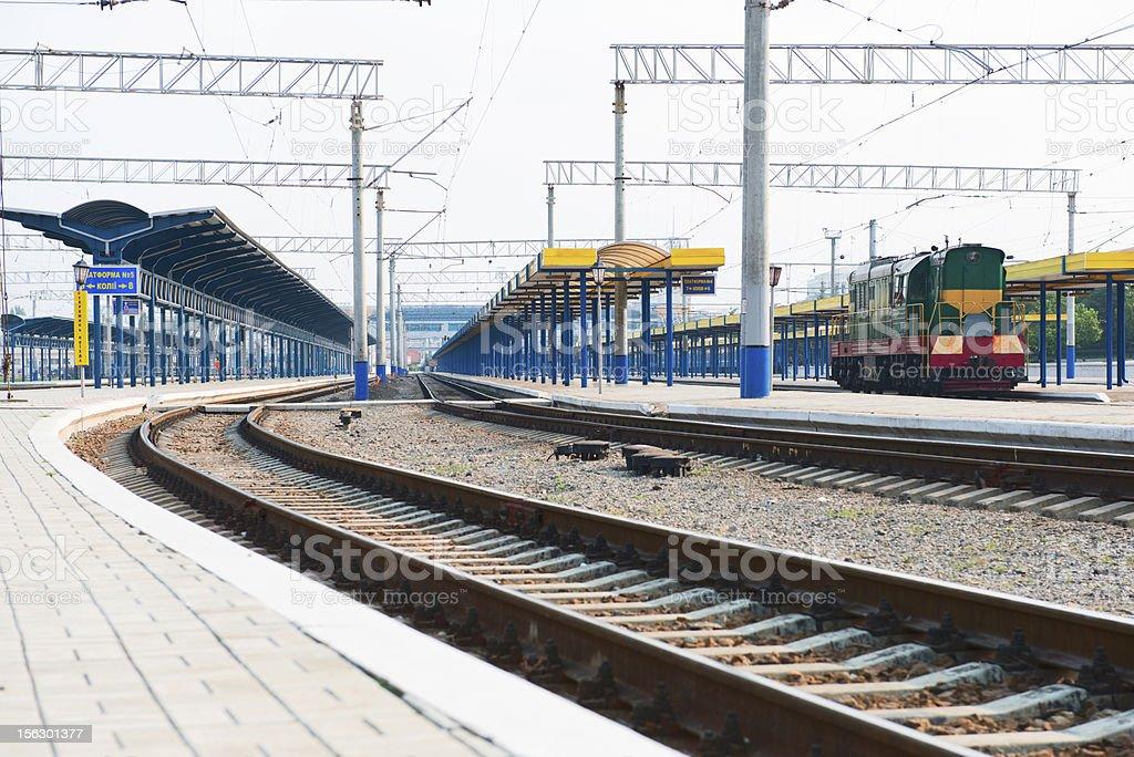 Platform of station royalty-free stock photo