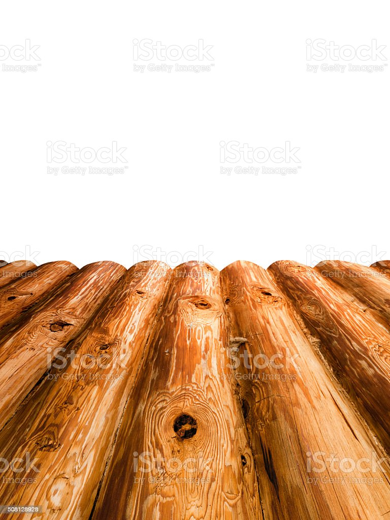 Platform of wooden log stock photo