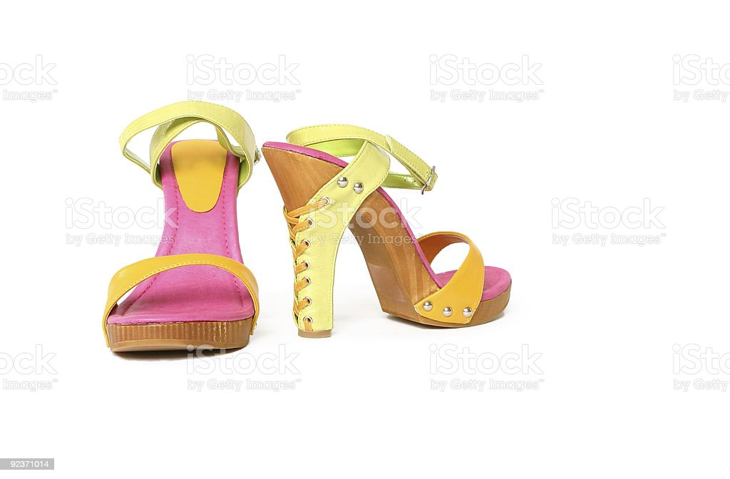 Platform shoes sandals royalty-free stock photo