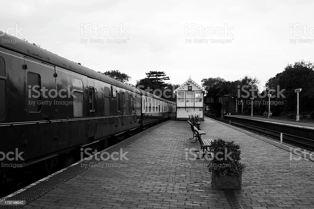 Platforms and carriages royalty-free stock photo