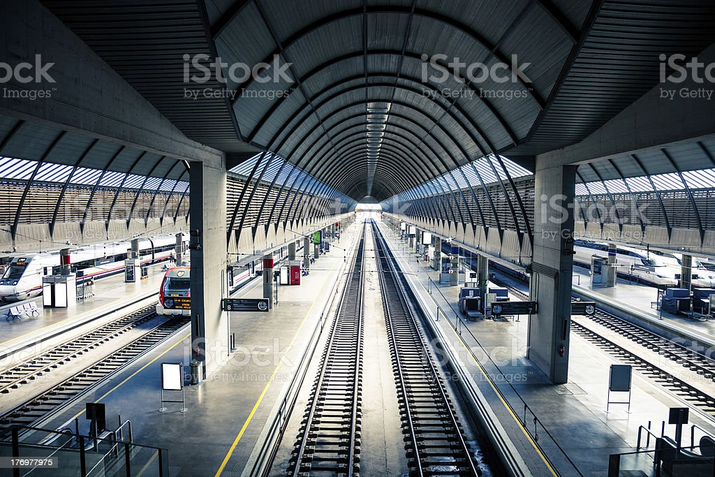 Platforms of a Train Station royalty-free stock photo