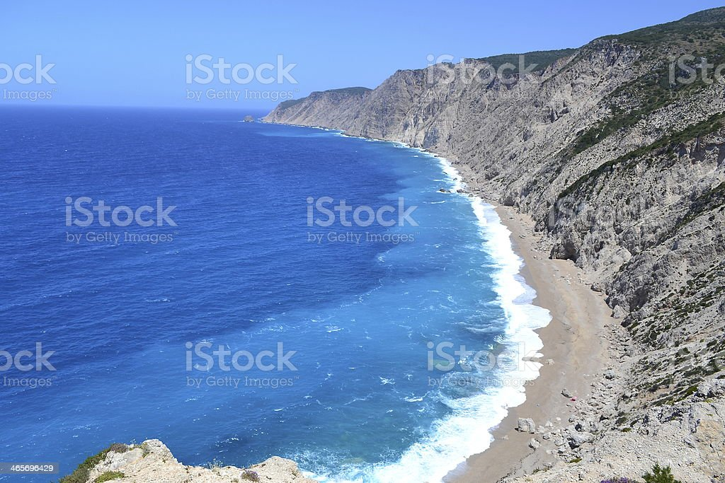 Platia Ammos Beach. Lixouri stock photo