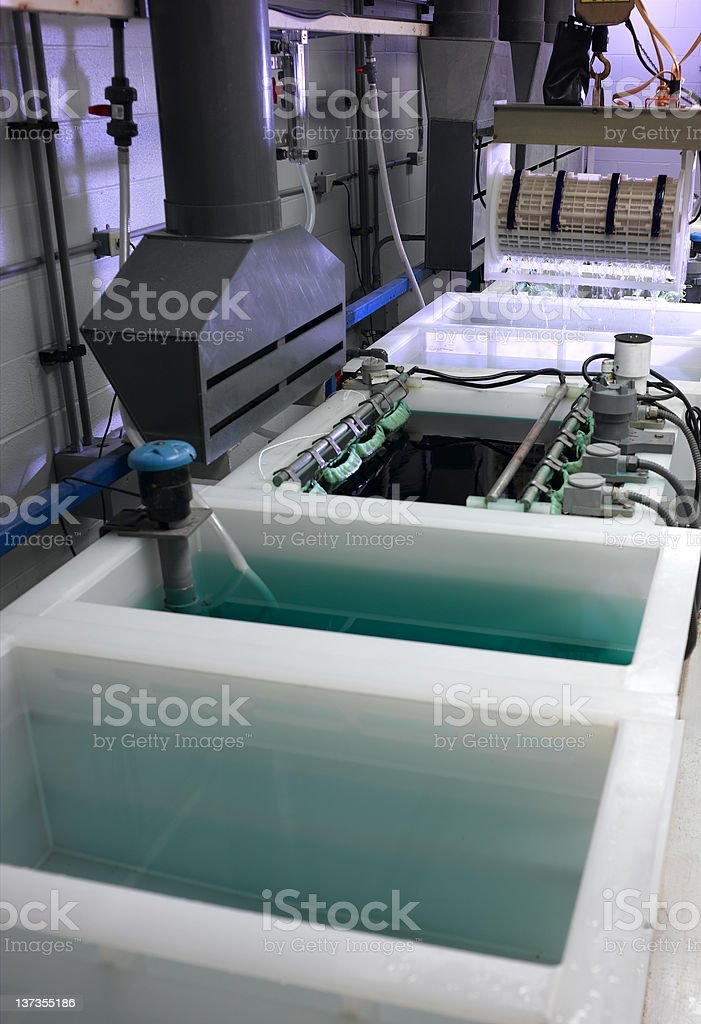 Plating Process stock photo