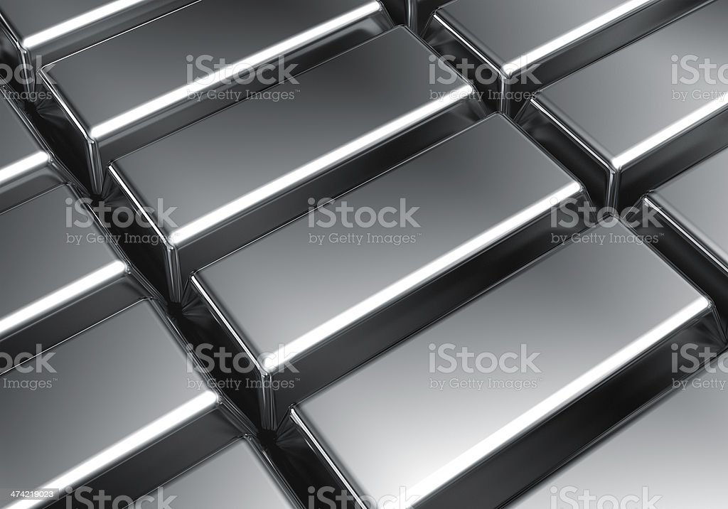 Platinum bars stock photo